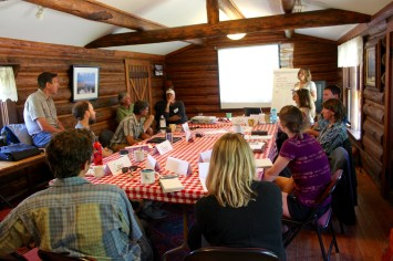 Participants at the June 2015 Conservation and Recreation Summit, The Murie Center, Grand Teton National Park. This and all photos: Christian Beckwith